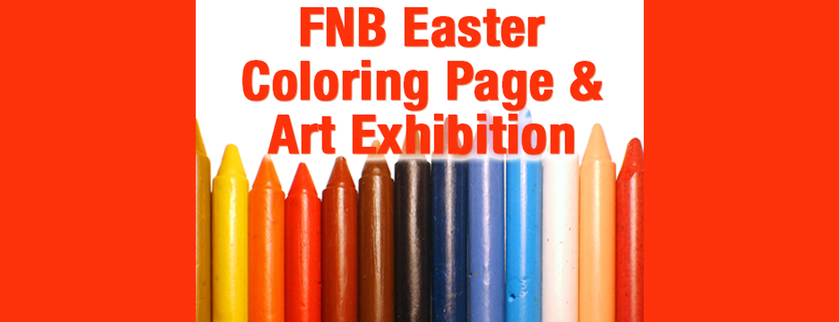 Coloring Page and Art Exhibition Happening Now at FNB!