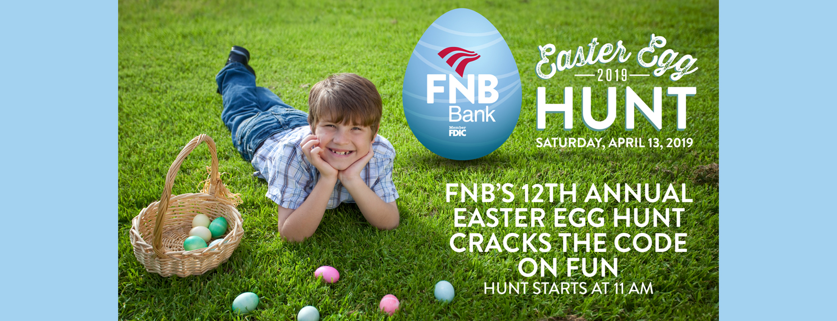 FNB's 12th Annual Easter Egg Hunt is Saturday, April 13