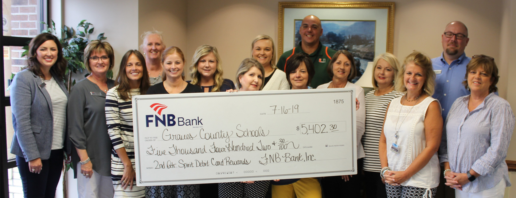 FNB Donates over $20500 to local schools through spirit debit card program